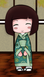 kokeshi doll color by Alice20