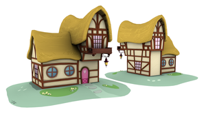 Ponyville Model - Balcony_B (Game/Animation) by discopears