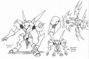 YYY monster-sketch01 by Kainsword-Kaijin