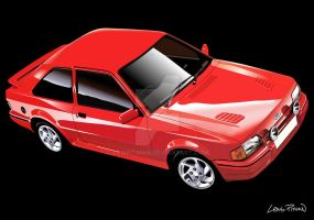 1986 Ford Escort MKIV RS Turbo by CRWPitman