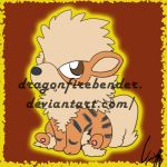 Arcanine Chibi by DragonFirebender