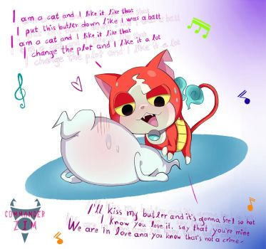 Whisper X Jibanyan- Love Song by Zim-BringerOfDoom