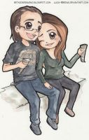 Chibi Couple 1| Commission by Lucia-95RduS