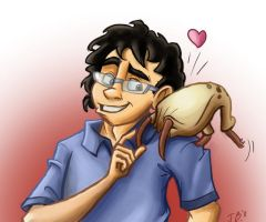 SpiderGman and his pet by Calick