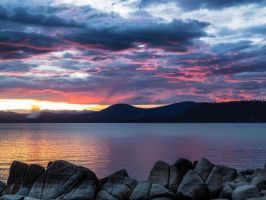 East shore sunset151015-64 by MartinGollery