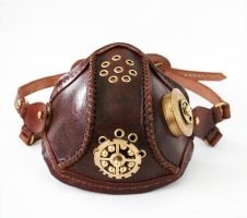 Steampunk leather mask 2 by AmbassadorMann