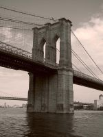 Brooklyn Bridge by Beckwee