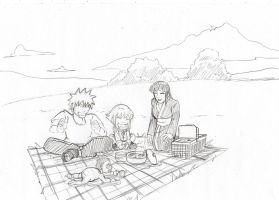 NaruHina in the park by mattwilson83
