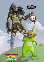 Predator vs teletubbies 3 by hqmarcos