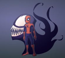 Cheeky Spidey Venom by DeadlyPancake