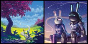 Space Bunnies by AlvinHew