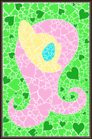 Minimal Mosaic: Fluttershy by flamevulture17