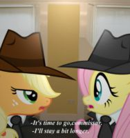 redo Fluttershy Accuses: Fluttershy and Applejack by kuren247