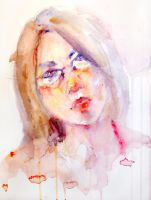 Watercolor Self-Portrait No.2 by jia-jia