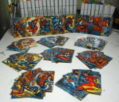 Spider Man Sketch Cards Color progress by AHochrein2010