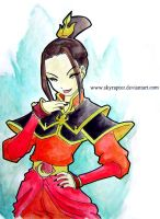 Color Azula-By skyraptor by Lucky-phantom