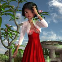 Sweet girl in red by mininessie66