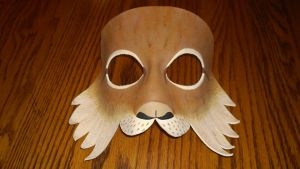 Lynx Leather Mask by A-S-Thompson