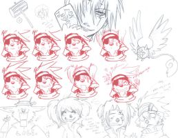 D.Gray-Man Doodles by Spaniel122
