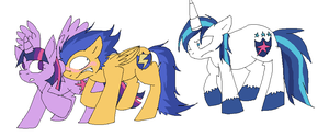 Shining Armour disapproves of Twilight x Flash by xXTwistedRainbows