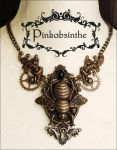 Bumblebee tattoo necklace by Pinkabsinthe