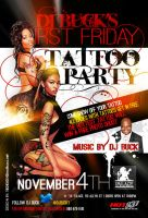 Tattoo Party Flyer by AnotherBcreation