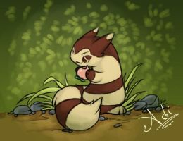 Furret's Pecha Berry by ariadnedalua