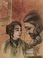 Ned and Arya by SmudgeThistle