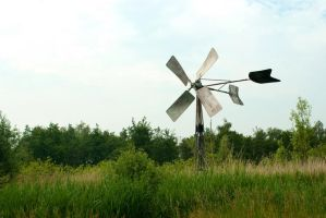 Irrigation windmill 2 by steppelandstock