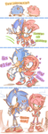 the evolution of Sonic and Amy by chibiirose