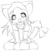 teh kitteh. +lineart.+ by NyankoRin