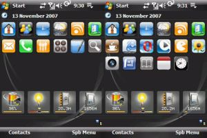 WinMo with iPhone icons by Phat7