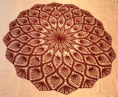 Large Pineapple Doily by Hermioneann