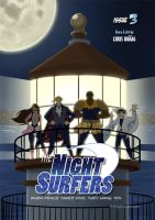 The Night Surfers: Issue 3 Cover by mrgoggles