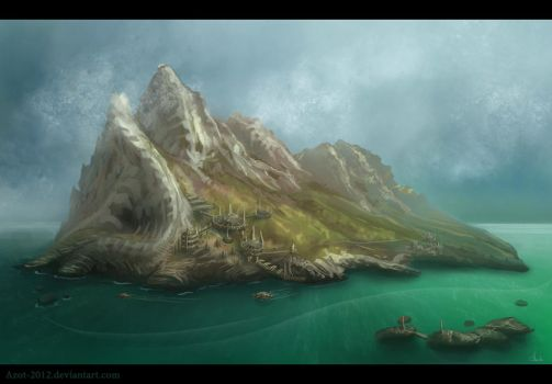 Mountains Speedpaint by Azot2017