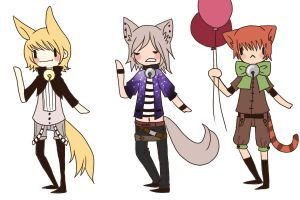 Adoptable Neko Batch 1 (CLOSED) by ThePaperCard