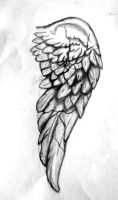 Tattoo Design - Broken stone wing (right) by rockgem