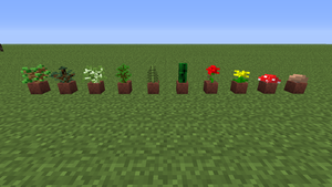 All the poted plants in minecraft! by Cowboypilot-MC