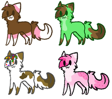 ice cream kitteh adoptables :3 open by Honey-PawStep