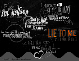 Lie to me ost lyric brushes by paulysa by Paulysa