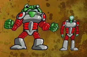 The Toad and Paul E. Wogg by bogmonster