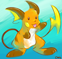Painted Raichu by raizy