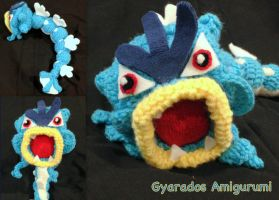 Gyarados Amigurumi by CeltysShadow