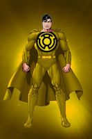 Sinestro Lantern Superman by KalEl7