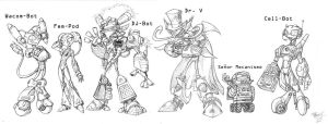 Wacom Characters Line-up by The-HT-Wacom-Man