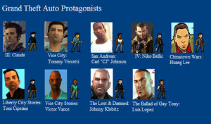 Grand Theft Auto Protagonists by LeeHatake93