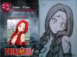 Fairy Tail : Flare Corona Drawing by SteliosStaR