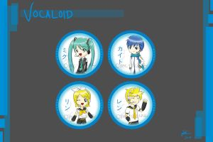 Keychains - Vocaloid by ome-okane