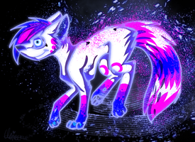 Space wolf by Claireounette74