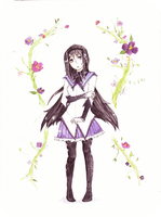 Homura Flower :commision: by Migane-chan